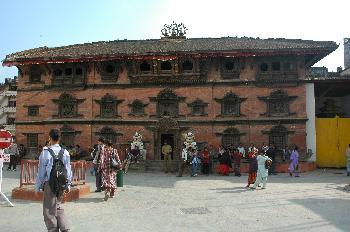 El Palacio de los Reyes Malla en el centro de Katmandú, Nepal