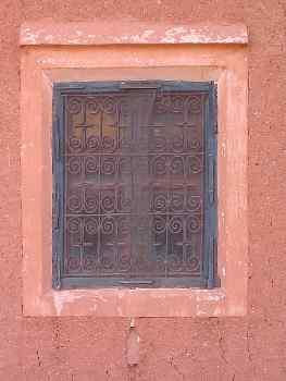 Ventana artesanal con dintel, Telouet, Marruecos