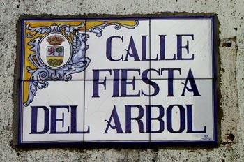 Calle dedicada a la primera fiesta del árbol en Villanueva de la