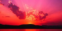 Bonita puesta de sol para el curso TIC