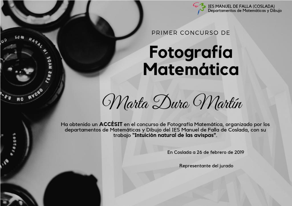 FOTOGRAFÍA MATEMÁTICA 2019 8