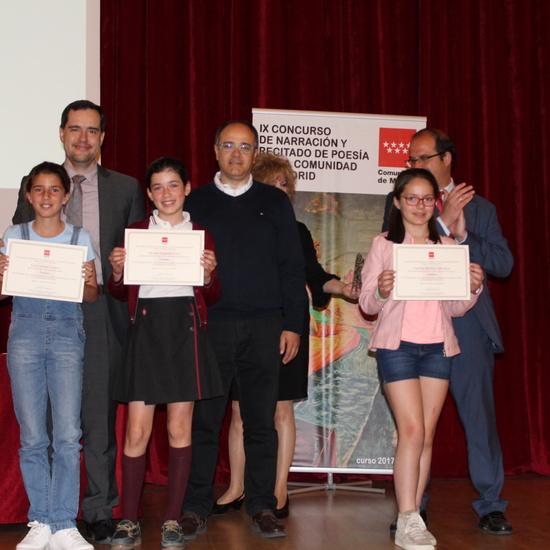 Entrega de los premios del IX Concurso de Narración y Recitado de Poesía 2