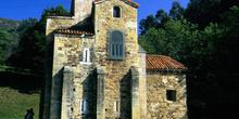 Fachada sur de la iglesia de San Miguel de Lillo, Oviedo, Princi