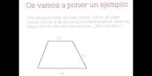 PRIMARIA - 6º - ÁREA DEL TRAPECIO - MATEMÁTICAS