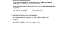 SOLUCIONES EJERCICIOS LENGUA 30 ABRIL