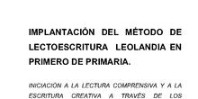072_INICIACIÓN A LA LECTURA COMPRENSIVA Y A LA ESCRITURA CREATIVA A TRAVÉS DE LOS CUENTOS