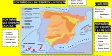 Infografía resumen de las unidades de relieve de España