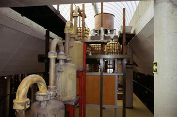 Receptores de ácidos de la torre de reacción, Museo de la Minerí