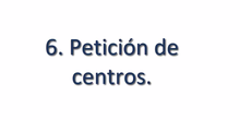 Petición de destinos 2019. PASO 6 NO VÁLIDO