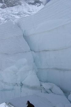 La llegada al muro de hielo