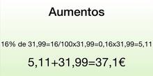 PRIMARIA - 6º - MATEMÁTICAS - AUMENTOS, INCREMENTOS- FERNANDO, NEREA Y NINA