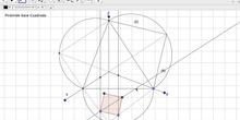 Sistema axonométrico representación de una pirámide recta.