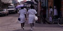 Escena callejera en Ciudad de Belice