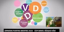 JORNADAS PUERTAS ABIERTAS 2020 CEIP DANIEL VÁZQUEZ DÍAZ