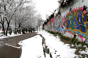 Grafitti nevado, Comunidad de Madrid