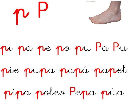 FICHA LETRA P