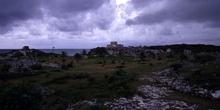Vista general del conjunto arqueológico de Tulum, México
