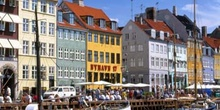 Canal en Copenhague, Dinamarca