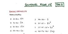 1ºESOE SOLUCIONES Documento 3 SUMA Y RESTA DE MONOMIOS
