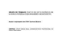 PUNTOS DE VISTA ESCÉNICOS DE LA DANZA ESPAÑOLA PARA BAILARINES ADOLESCENTES II
