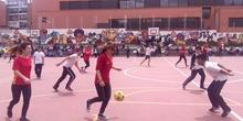 Partido de Fútbol. Monitoras-Alumnos