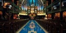 Interior de la Basílica de Notre Dame de Montreal, Canadá