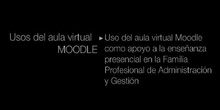 """Ponencia de Dª. Mª José Martínez Triguero:""""Uso del aula virtual Moodle como apoyo a la enseñ"""