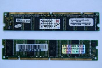 Módulo de memoria tipo DIMM 168 contactos
