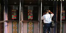Cabinas de teléfono, Jakarta, Indonesia