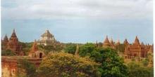 Panorámica de Bagan, Myanmar