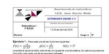 Actividades online nº 3 - 1º Bach A