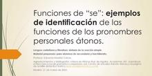 Funciones de SE - ejemplos de identificación