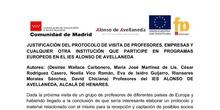 Protocolo para la recepción de visitantes europeo al centro en relación a los Programas europeos