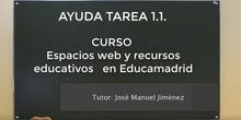 Ayuda tarea 1.1. curso Espacios web y recursos educativos