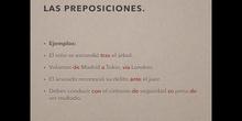 6º lengua las preposiciones