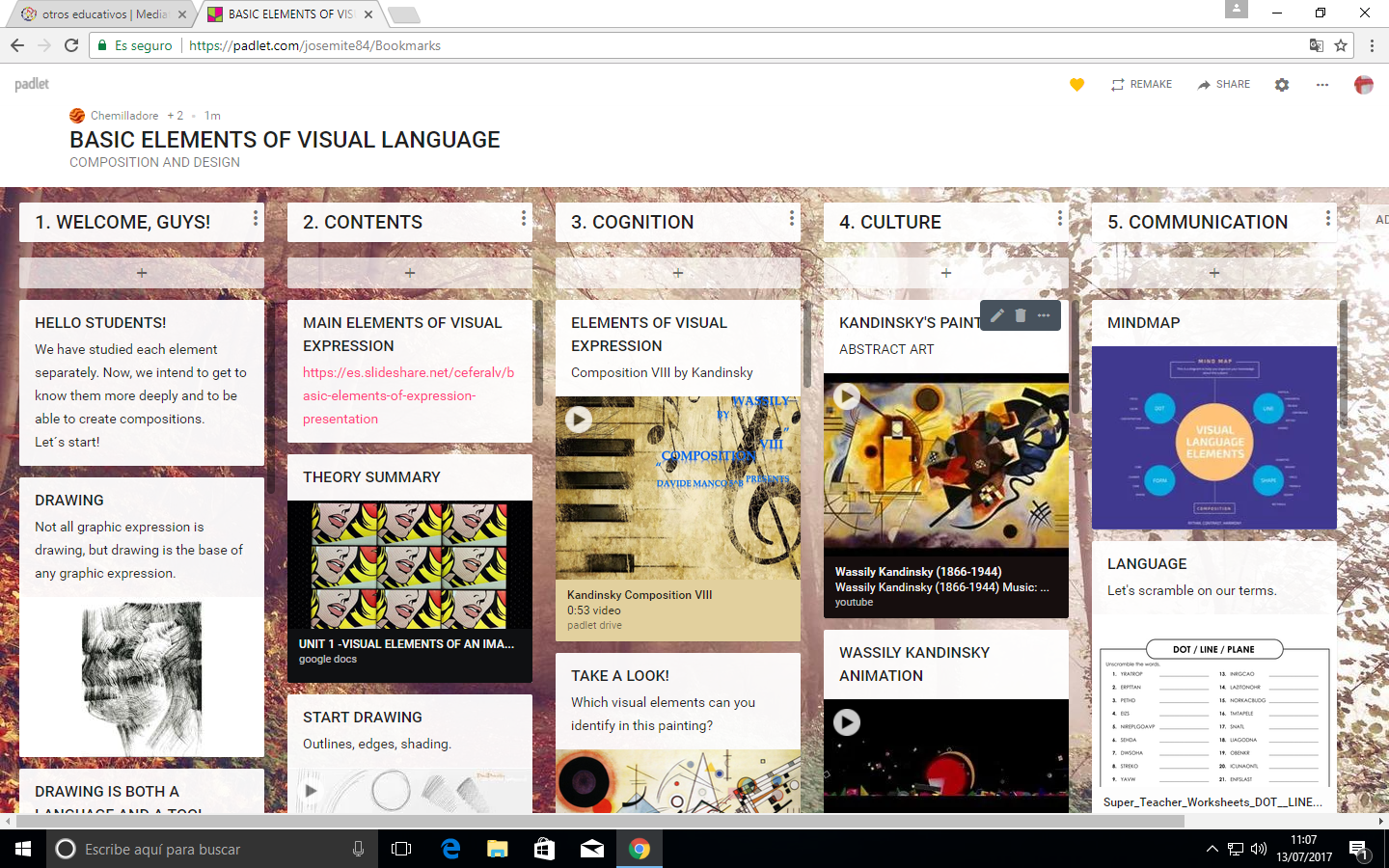 IMAGE OF PADLET IN-60 2017- BASIC ELEMENTS OF VISUAL LANGUAGE