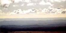 Horizonte en brumas, parque nacional de Tongariro, Nueva Zelanda