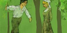 Frondoso y Laurencia se declaran su amor
