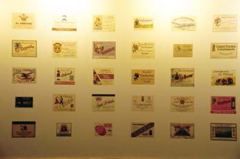 Etiquetas de diferentes sidras espumosas, Museo de la Sidra de A