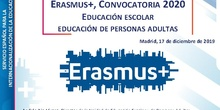 IN012 JORNADA DIFUSIÓN ERASMUS+ EN ED. ESCOLAR Y ADULTOS. CONVOCATORIA 2020