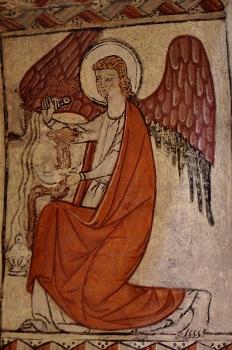 Angel turiferiario del intrados, Huesca
