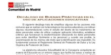 Decálogo de Buenas Prácticas en Educamadrid