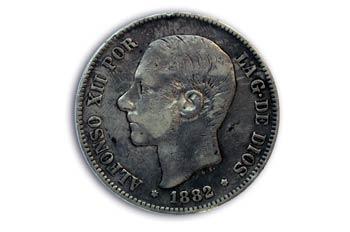 Pesetas  Alfonso XII, Cara
