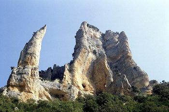 Formaciones rocosas en el Barranco de Mascún, Huesca