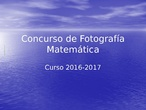 Concurso Fotografía Matemática