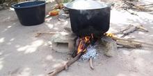 Cocinando en el colegio