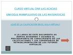 TAREA 2.1 AYUDA PARA CONOCER LAS CALIFICACIONES EN EL AULA VIRTUAL