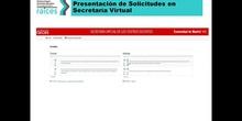Presentación de Solicitudes en Secretaría Virtual