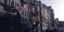 Edificaciones en la ciudad vieja de Sanaa, al amanecer, Yemen