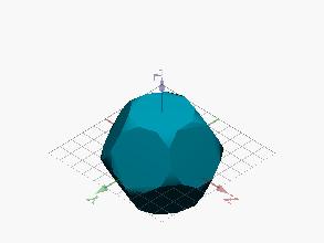 Poliedro limitado por decágono y triángulo